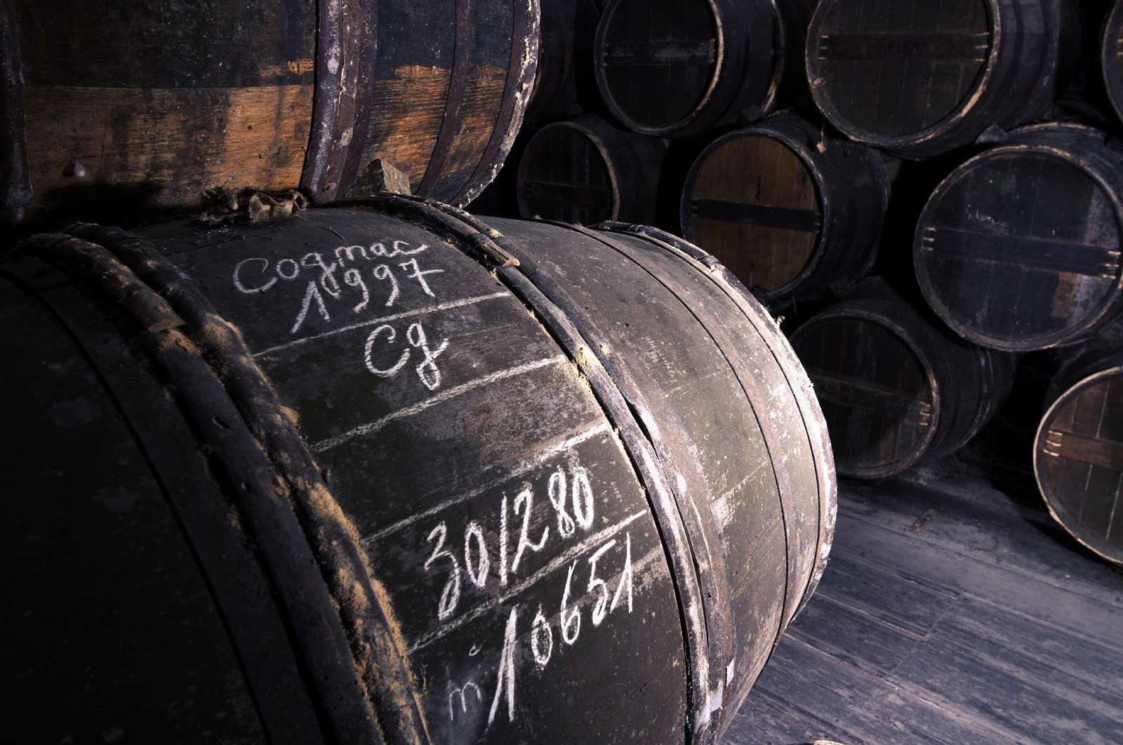 Botti per l'affinamento del Cognac